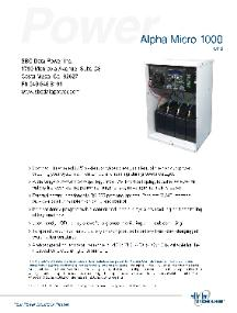 Alpha Micro 350, Micro 1000, Outdoor, UPS, Pole Mount, Alpha Technologies, NEMA 3R, 350W, 1000W, Security, Radio, Communication