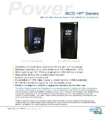 Alpha Technologies ACS 120VDC 125VDC 130VDC Power Supply, Industrial Battery Charger Brochure