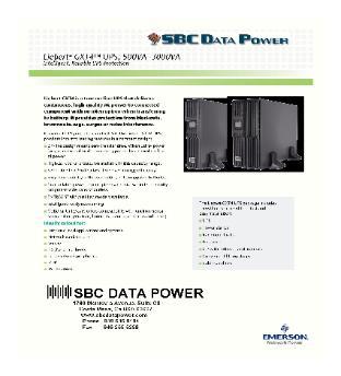 Reseller - Liebert Emerson UPS Emergency Power Systems GXT4, GXT